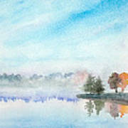 Misty Lake Art Print