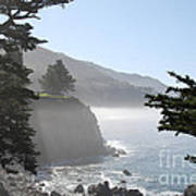 Misty Morning On The Big Sur Coastline Art Print by Camilla Brattemark