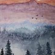Misty Mountain Art Print by Terri Maddin-Miller