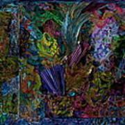 Mixed Media In Blues Art Print