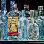 Mob Museum Whiskey Bottles Art Print