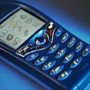Mobile Phone Art Print by Tek Image
