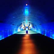 Modern Blue Tunnel Art Print