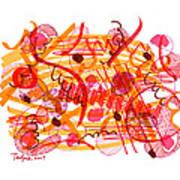 Modern Drawing 105 Art Print