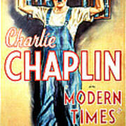 Modern Times, Charlie Chaplin, 1936 Art Print