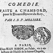 Moliere (1622-1773) Art Print