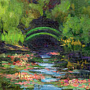 Momet's Water Lily Garden Toward Evening Art Print