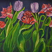 Mom's Tulips Art Print