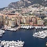 Monaco Harbour Art Print
