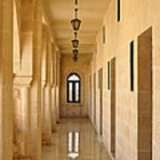 Monastery Passageway Art Print
