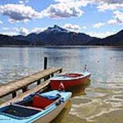 Mondsee Lake Boats Art Print