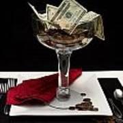 Money Is Served Art Print