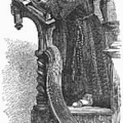 Monk Preaching Art Print
