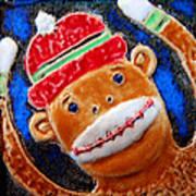 Monkey Sock Around Art Print