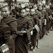Monks In The Monastery Art Print