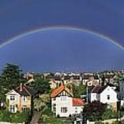 Monkstown, Co Dublin, Ireland Rainbow Art Print