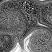 Mono Swirl Abstract Art Print