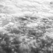 Monochrome Clouds Art Print
