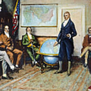 Monroe Doctrine, 1823 Art Print