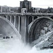 Monroe St Bridge 2 - Spokane Washington Art Print by Daniel Hagerman