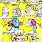 Monster Genealogy Art Print by Jamie Jonas