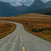 Montana Highway Art Print