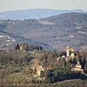 Montegufoni Castle Art Print