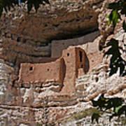 Montezuma Castle Cliff Dwellings In The Verde Valley Of Arizona Art Print
