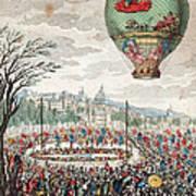 Montgolfier Balloon Le Flesselles Art Print