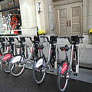Montreal Bicycles Art Print