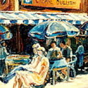 Montreal Cafe City Scenes Prince Arthur And Duluth Street Art Print