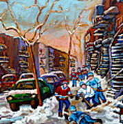 Montreal Hockey Paintings Art Print