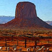 Monument Valley 2 Pastel Art Print