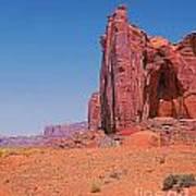 Monument Valley Elrphant Butte And Hogan Art Print