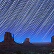 Monument Valley Star Trails 1 Art Print