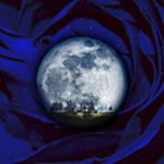 Moon Has Rose Art Print