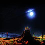 Moon Lite In Hdr Art Print