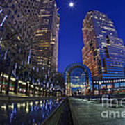Moon Over Financial Center Art Print