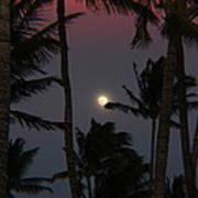 Moon Over Hawaii Art Print