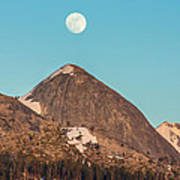 Moon Over Sierra Peak Art Print