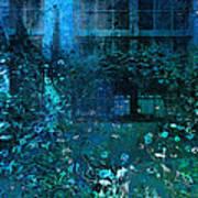 Moonlight In The Garden Art Print