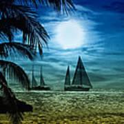Moonlight Sail - Key West Art Print