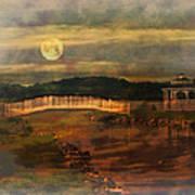 Moonlight Stroll Art Print by Kathy Jennings