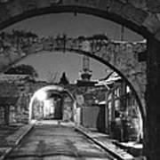 Moonlight View Of Market Street, Odos Art Print