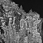 Moonlit Cliffs Art Print