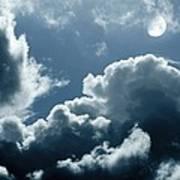 Moonlit Clouds Art Print