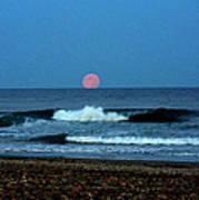 Moonrise Rexham Beach Print by Malcolm Lorente