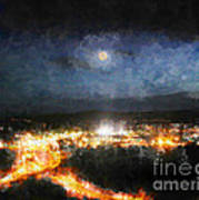 Moonshine Over Prescott Art Print