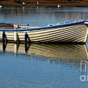 Moored And Ready Art Print