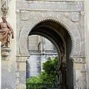 Moorish Arch Of The Giralda In Seville Art Print